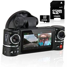 inDigi® NEW! 2-in-1 Car DVR + Rearview Mirror Recorder HD 1