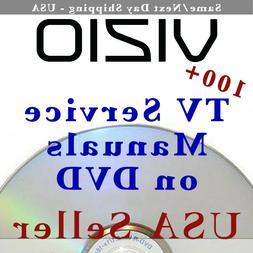 100+ Vizio TV LCD Plasma LED Service Manuals on DVD PDFs Rep