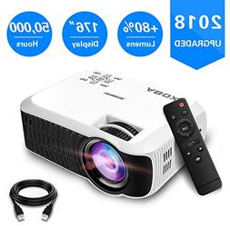 2018 Newest ABOX T22 Portable LCD Video Projector, GooBang D