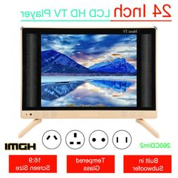 """24"""" HD Smart LCD TV Mini LED Music Television Player Audio S"""