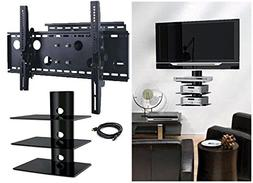 2xhome – NEW TV Wall Mount Bracket  & Triple  Three Shelf