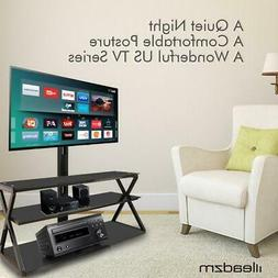 3-in-1 Floor TV Stand with Swivel Mount for 32-65 inch LED L