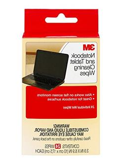 3M Notebook Screen Cleaning Wipes, 3.9  x 6.9 Inches , White