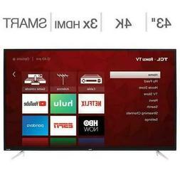 "TCL 43"" Inch Class 4K UHD Ultra HD LED LCD Smart ROKU TV 43S"