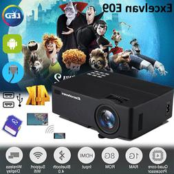 4K HD 1080P Home Theater LED Android 6.0 Wifi Wireless Proje