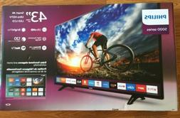 "Philips 5000 Series 43"" Smart 4K UHD LED LCD BrightPro TV-"
