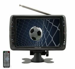 "Milanix 7"" Portable Widescreen LCD TV w/ Digital TV Tuner &"