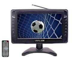 "Milanix 9"" Portable Widescreen LCD TV w/ Digital TV Tuner &"