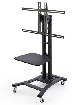 """Displays2go, Mobile TV Stand for 37"""" to 70"""" LCD Monitor, 4 L"""