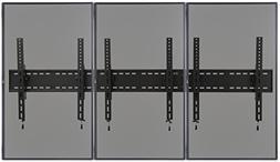 Displays2go, Multi-Screen TV Bracket for Wall, Steel Constru