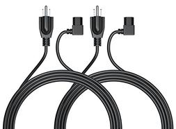 Pwr+ 2 PACK 3 Ft Cable 3 Prong AC Power Cord:  NEMA 5-15P to