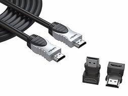 Pwr+ 25 Ft 4K HDMI 2.0 Braided High-Speed Ultra Full HD 2160