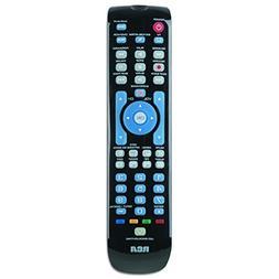 RCA RCRN04GBE Four-Device Universal Remote, Black