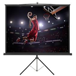 VonHaus 84 Inch Tripod Projector Screen - TV/Home Theater/Mo