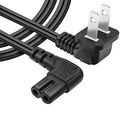 Powseed 6.5FT AC wall power cord plug 2 prong cable IEC-6032