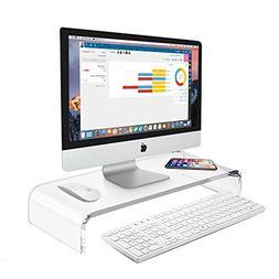 AboveTEK Premium Acrylic Monitor Stand, Custom Size Monitor