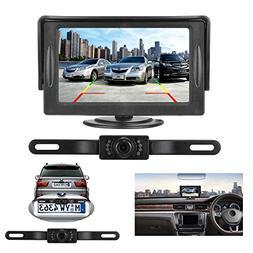 Backup Camera and Monitor Kit for Car, IP68 Waterproof Licen