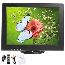 YaeCCC 12 inch CCTV LCD Monitor VGA/AV/HDMI/TV Input Display