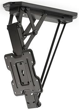 Displays2go Ceiling Mounted TV Bracket, Steel Build, Remote