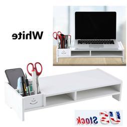 Computer Monitor Riser Shelf LCD TV Screen Platform Stand De
