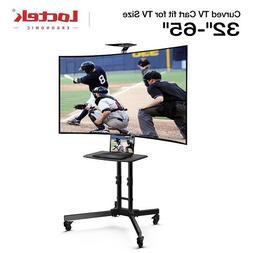Loctek Curved TV Cart for LCD LED Plasma Flat Panels Stand w