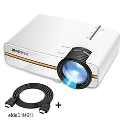 XPISMII D60 LED Mini Projector, Portable Multimedia Home The
