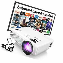 "DR.J  4Inch Mini Projector with 170"" Display - 40,000 Hour L"