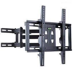 UNHO Tilt Swivel TV Wall Mount Bracket Dual Arm Full Motion