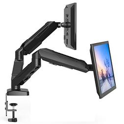 Dual Monitor Stand - Monitor Desk Mount with Swivel & Tilt ,
