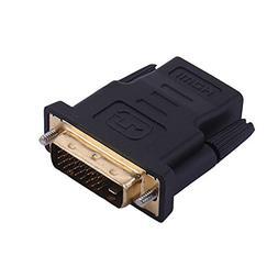 MaxLLTo DVI-D 24+1 Pin Male to HDMI Female M-F Adapter Conve