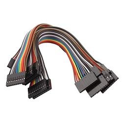 uxcell 10 Pcs Female to Female 10P Jumper Wires Ribbon Cable