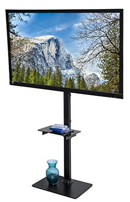 Mount-It! LED LCD Flat Panel Screen TV Floor Stand, TV Shelf