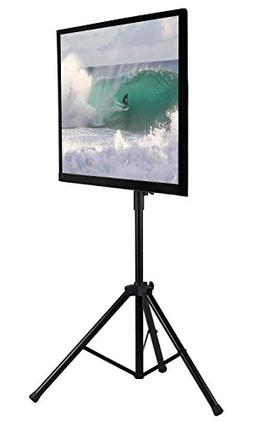 Mount-It! LCD Flat Panel TV Tripod, Portable TV Stand Fits L