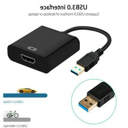 HD 1080P USB 3.0 to HDMI Video Cable Adapter Converter For P