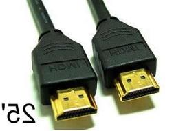 25 ft NEW HDMI to HDMI High Quality Cable  for PS3, TV, HDTV