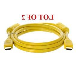 2-PACK 6-FT HDMI M/M CABLE for HDTV/DVD PLAYER HD LCD TV