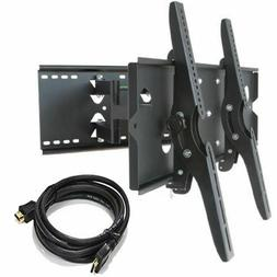 "Heavy Duty Dual Arm TV Tilt Wall Bracket Mount for 30"" to 85"