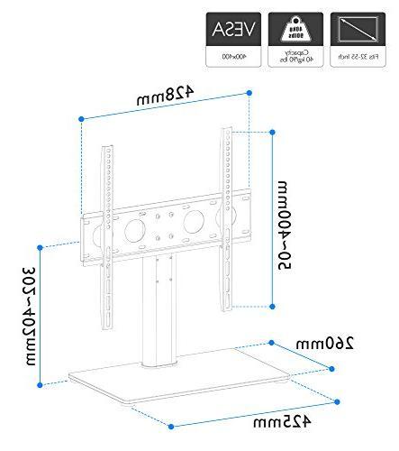 "1homefurnit Pedestal TV Stand Bracket 32""-50"" LCD/LED/Plasma TVs"