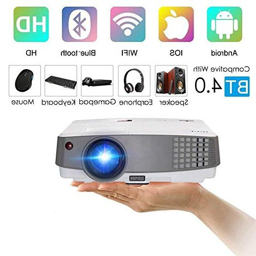 2018 upgraded portable wifi projector