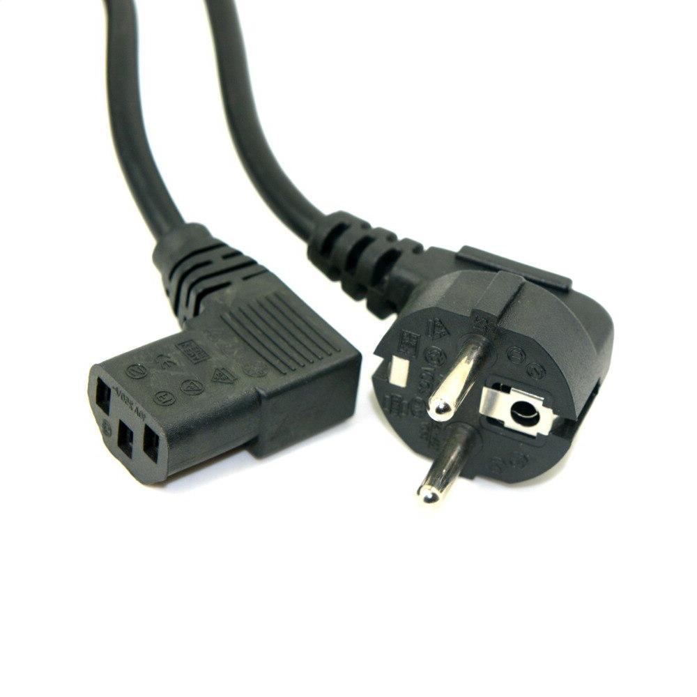 2pcs/1pcs Europe EU Flat 5-15P to IEC <font><b>Power</b></font> for LED 5ft 1.5m