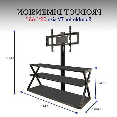 3-in-1 Floor TV Stand with Swivel 32-65 inch Flat TVs