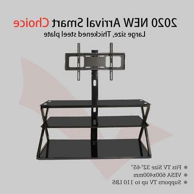 3-in-1 Floor TV Stand with Swivel for 32-65 LED Flat TVs