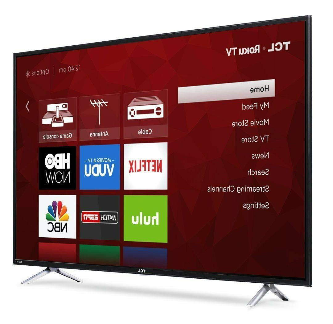 "TCL 55"" TV w/ 120, 3HDMI/1USB & Built-in"