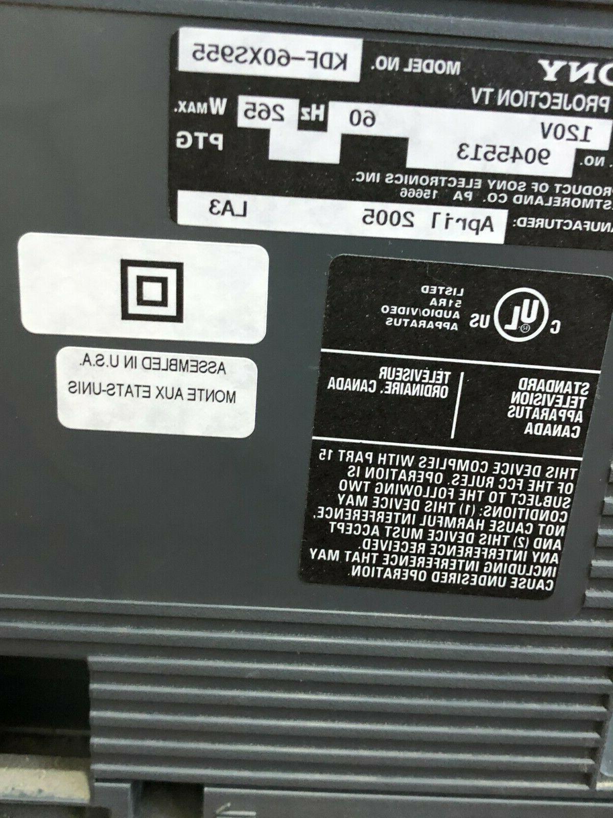 """60"""" SONY KDF-60XS955 LCD TV"""
