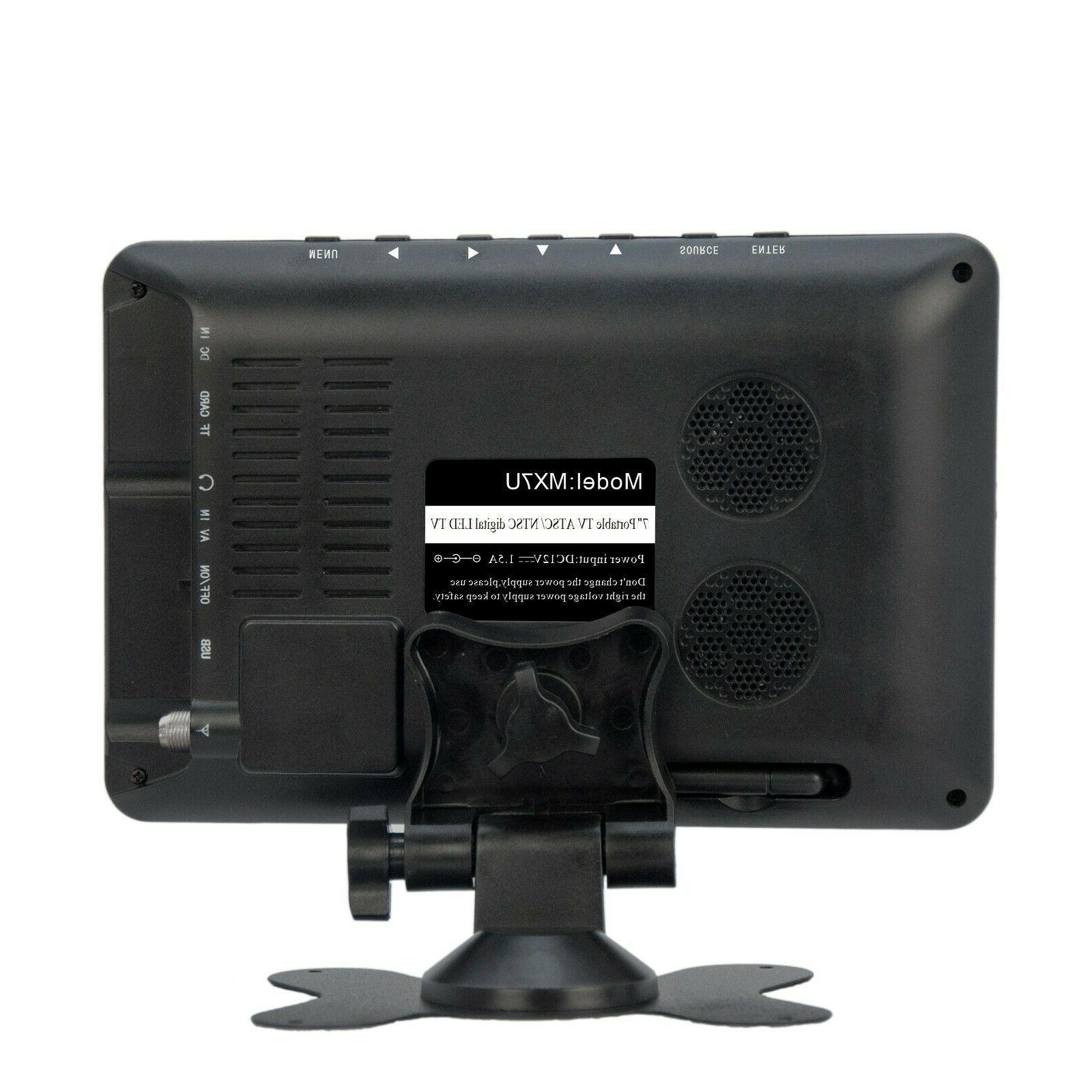 "Milanix 7"" Portable LCD w/ Digital TV SD AV In"