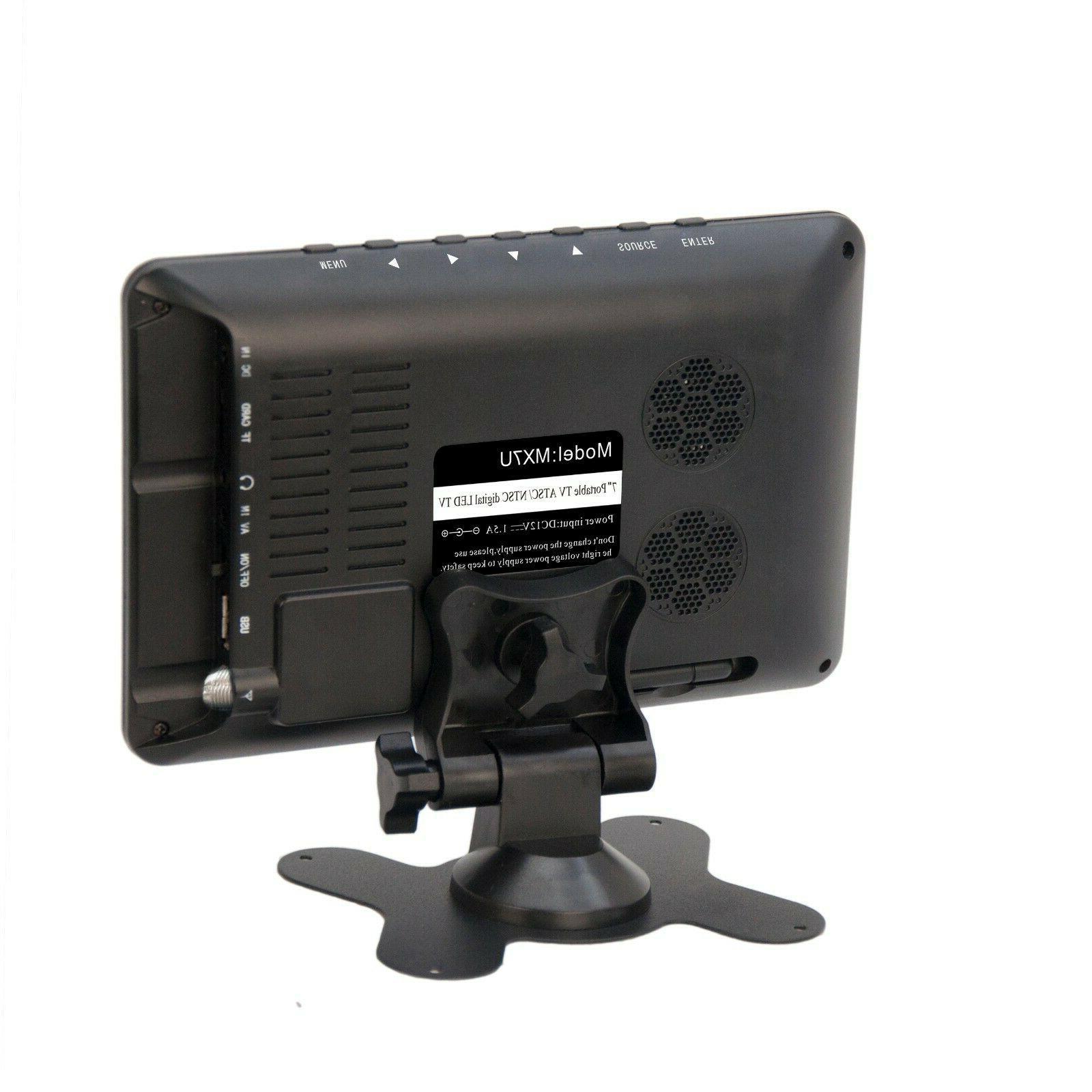 """Milanix 7"""" Portable Widescreen LCD TV Digital TV & USB, SD Slot AV In"""