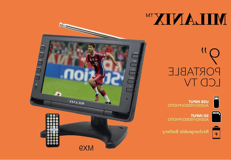 "Milanix 9"" Portable TV In"