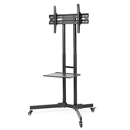 Mount Factory TV Stand Mobile TV for 32-65 inch Screen, LED, Curved Universal Wheels
