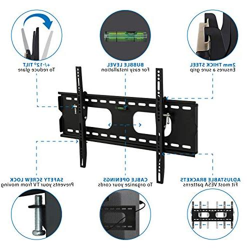 Mount-It Low-Profile Wall Bracket 32-60 OLED, Flat Screen TVs - 175 Capacity, 1.5 600x400 60