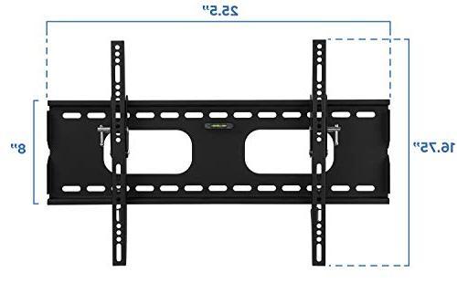 Mount-It Tilting Wall Mount 32-60 LED, OLED, Flat 175 lbs Inch Profile, Max 600x400 , Black,